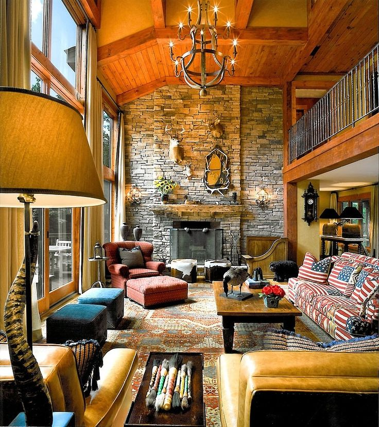 28 best rustic mountain lodge design images on pinterest Mountain home interiors