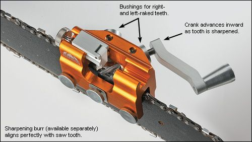 Hand-Crank Chain-Saw Sharpener - Lee valley