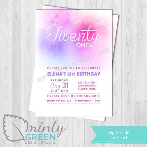 Hey, I found this really awesome Etsy listing at https://www.etsy.com/au/listing/517091419/birthday-invitation-pink-purple