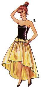 Barbie Strapless Evening Gown