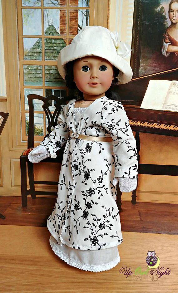 Downton Abbey Lady Sybil garden party dress fits American Girl Dolls