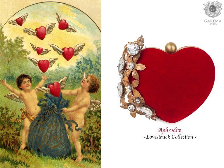 Heart Shaped Aphrodite Clutch from Garéma Official. Shop at http://garemaofficial.com/