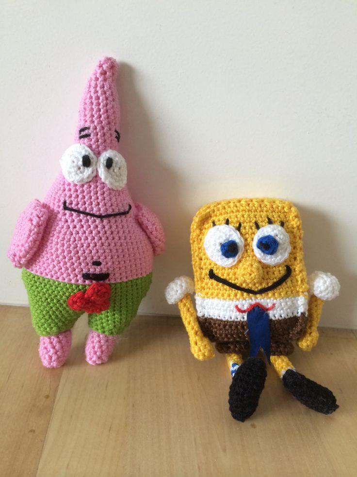 Patrick Ster & Spongebob. Eindelijk af! I made it!