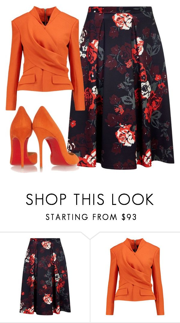 """""""."""" by dolo-mel ❤ liked on Polyvore featuring Havren, Balmain and Christian Louboutin"""