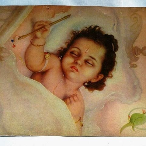 Sleeping ( Beauty ) Krishna Jai Shree Krishna Jai Shree Bal Gopala