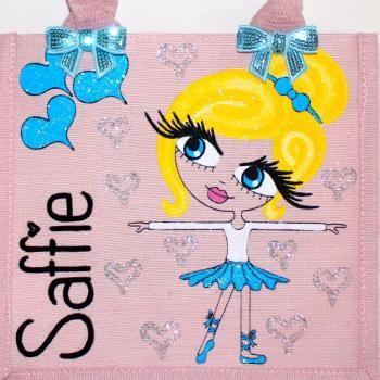 HunniBunni Saffie Little Miss Ballerina Personalised Mini Juco Bag