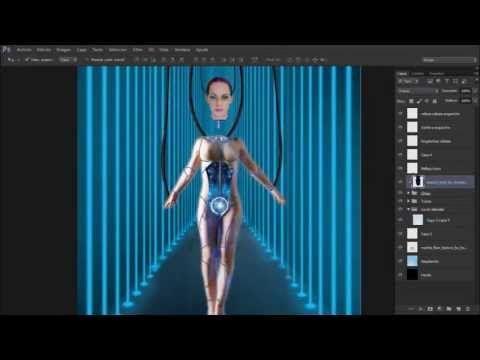 Cyborg Girl - Speed art Photoshop