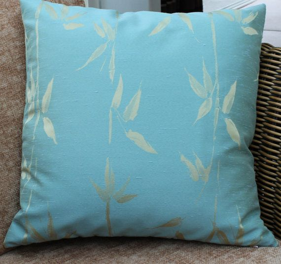 Teal pillow cover cushion Cover faux silk with gold by RectoryLane  https://www.etsy.com/uk/listing/127281554/teal-pillow-cover-cushion-cover-faux?utm_source=Pinterest&utm_medium=PageTools&utm_campaign=Share