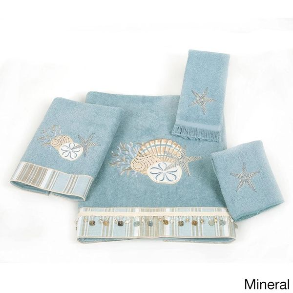 $54.88  Avanti By The Sea Embellished 4-piece Towel Set - Overstock Shopping - Top Rated Avanti Bath Towels
