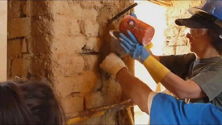 consolidacion muro de adobe mediante la inyección de lechada de cal