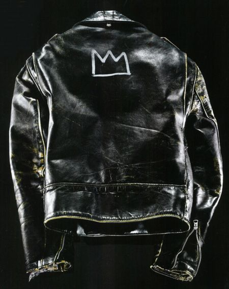 theclassyissue:  Schott leather jacket customized by Jean-Michel Basquiat in the 1980s.
