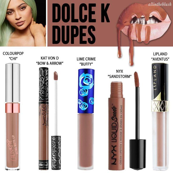 Kylie Jenner Cosmetics Dolce K Lipkit Dupes