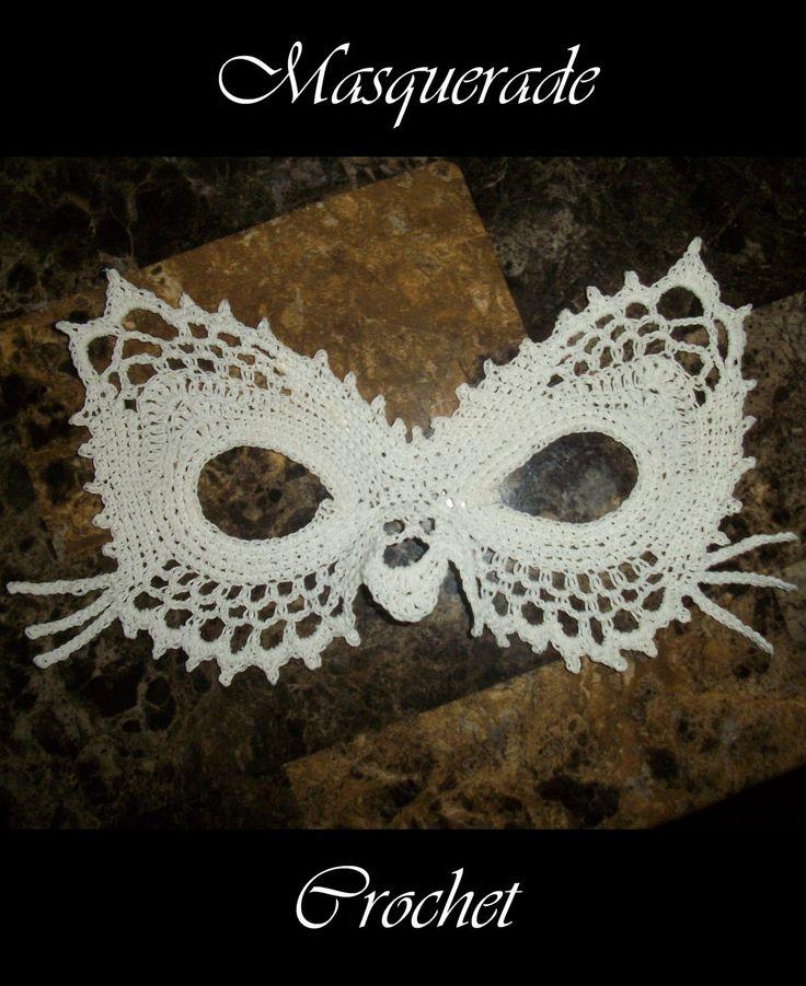 -Lace Cat Masquerade Mask Crochet Pattern PDF by 365Crochet