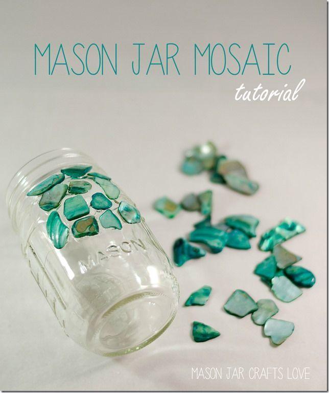 DIY Mason Jar Mosaic