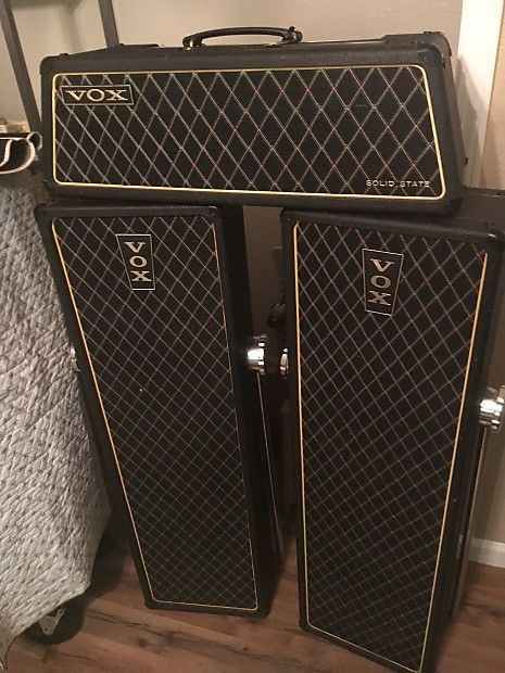 I have for sale a amp with speakers combo. 1967 Vox condition is excellent everything works all original!!! Just had everything checked out at my local music store to verify that it all works.