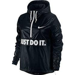 Veste coupe-vent ½ zippée, à capuche imprimé lettrines, pochette NIKE, City Packable Jacket NIKE - Femme