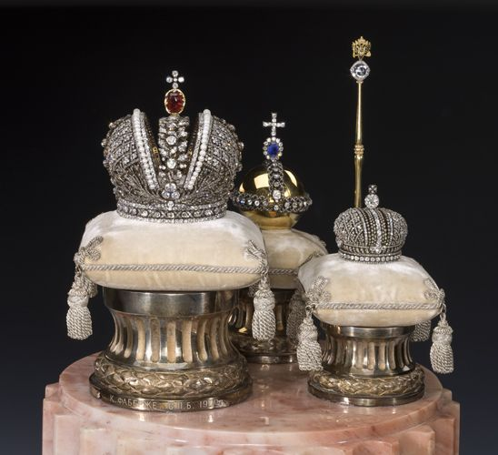 Imperial Crown Of Russia   Faberge Miniatures of the Imperial Coronation Regalia, St. Petersburg ...