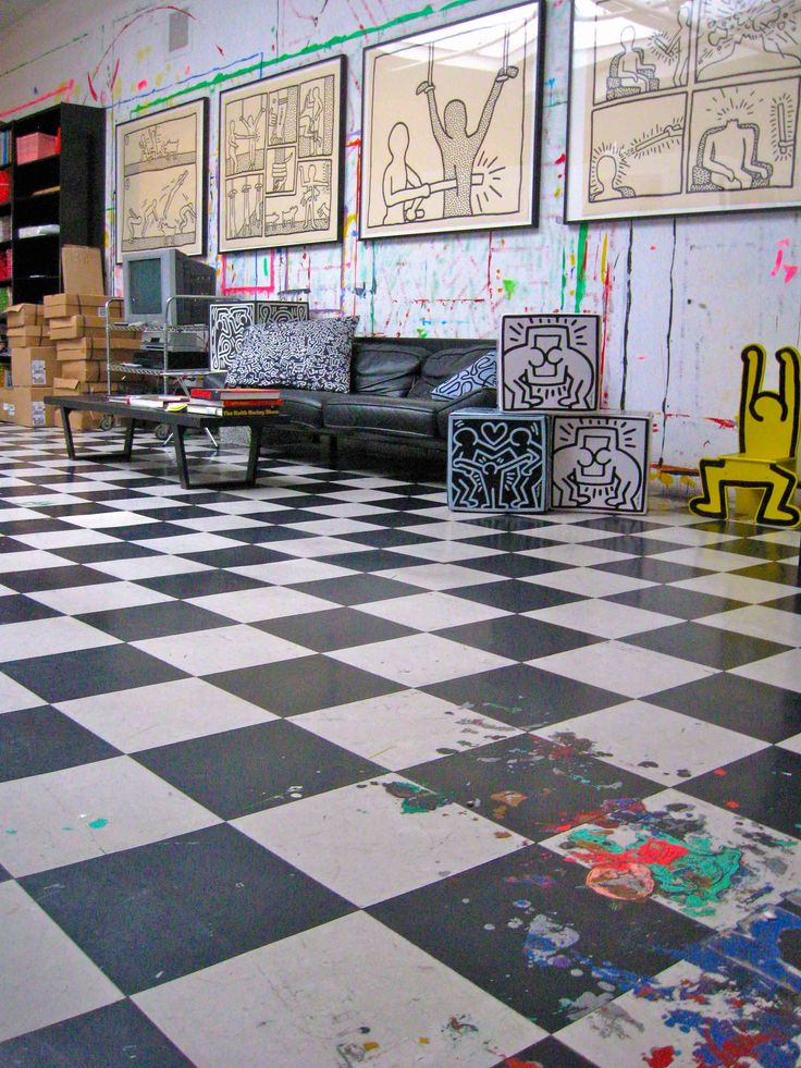 Keith Haring's studio by Michelle Aldredge for the Keith Haring Foundation.