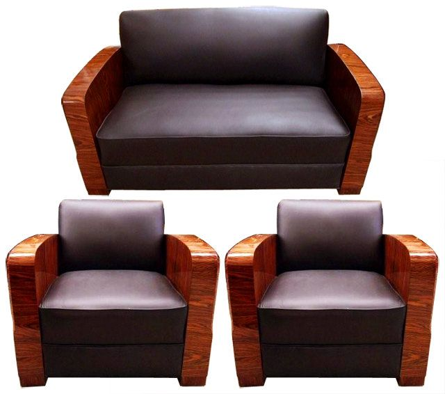 Art Deco Sofa And Chairs Set France