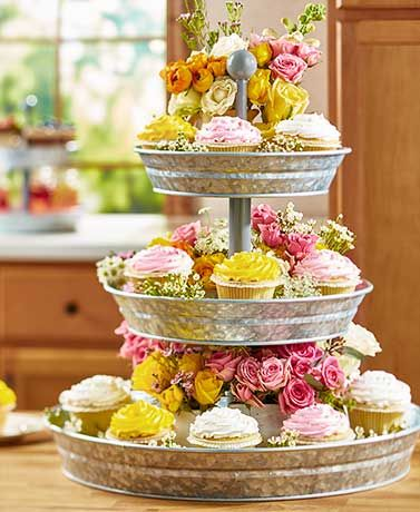 25 best ideas about tiered serving tray on pinterest galvanized 3 tier stand fruit storage. Black Bedroom Furniture Sets. Home Design Ideas