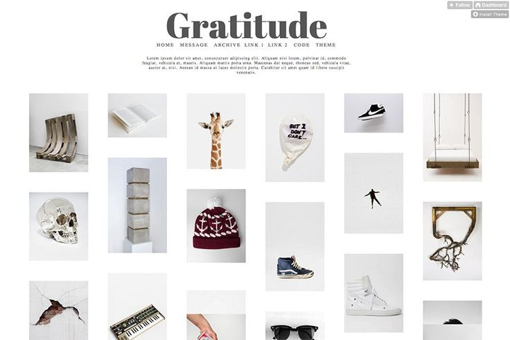 Gratitude - Free Tumblr Theme