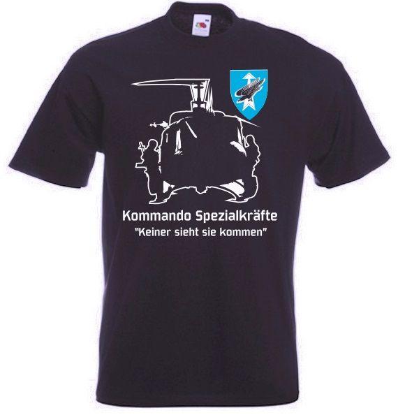 Bundeswehr T-Shirt KSK, Kommando Spezialkräfte - keiner sieht sie kommen in schwarz / mehr Infos auf: www.Guntia-Militaria-Shop.de