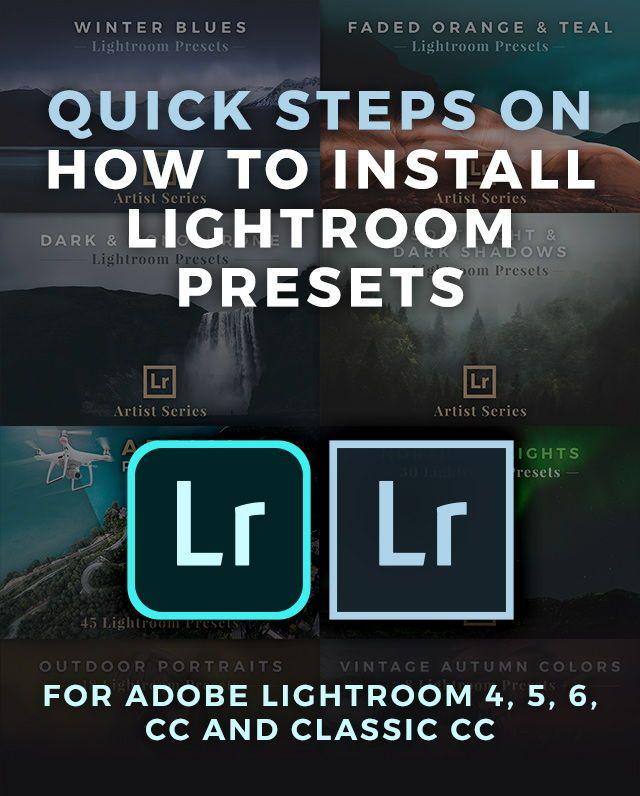 How To Install Lightroom Presets | classes | Lightroom