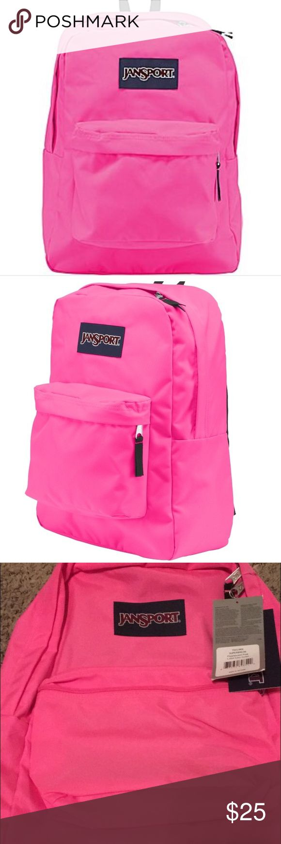 Hot Pink NWT Jansport Backpack! NWT hot pink Jansport backpack! Bought awhile ago and never used. In perfect condition, fun and functional. Comment with any questions! Xx. Jansport Bags Backpacks