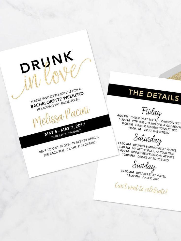 "Channel Beyoncé vibes with digital ""Drunk in Love"" bachelorette party printable invitations to prep your bridesmaids for a wild wedding celebration."