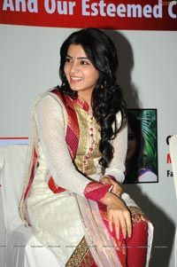 Smiling Beauty Samantha at TMC, Hyderabad - High Resolution Posters