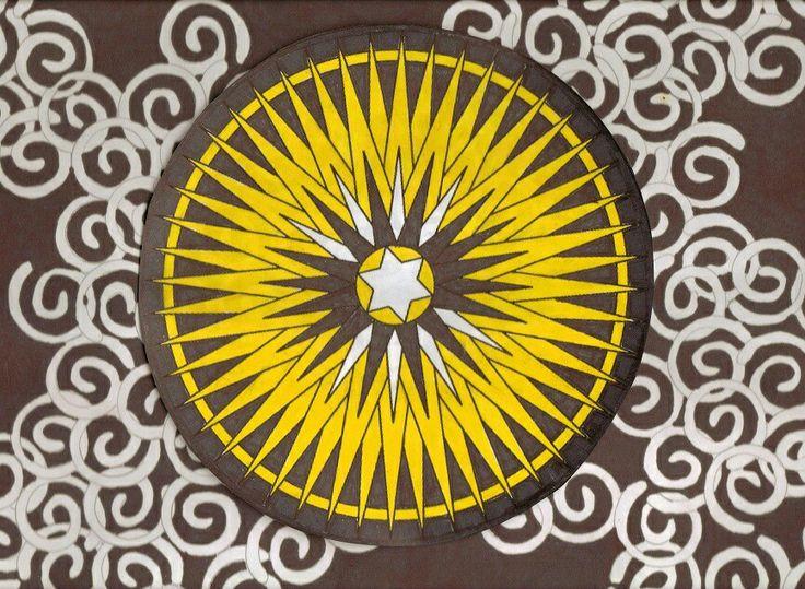 mandala in yellow
