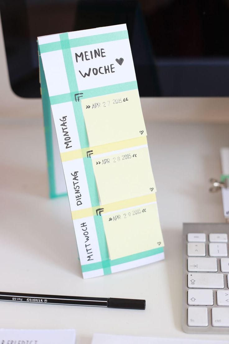 DIY // Memoboards und Tischkalender mit Post Its (via Bloglovin.com )
