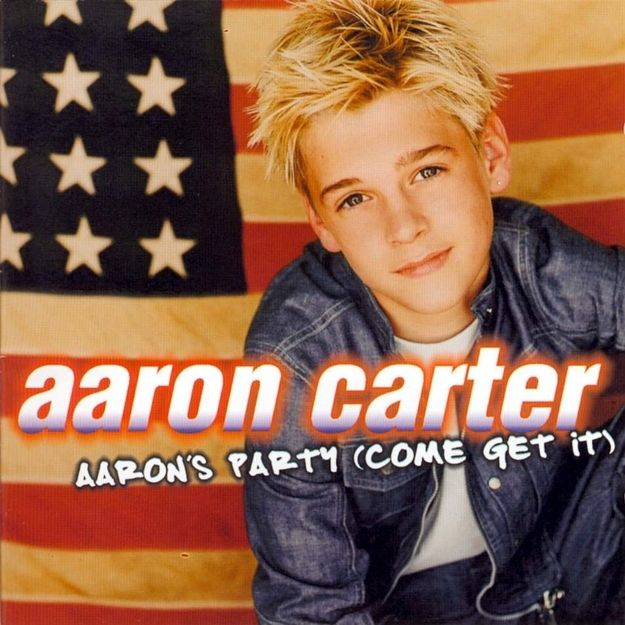 Listening to Aaron Carter and thinking he was cute LOL