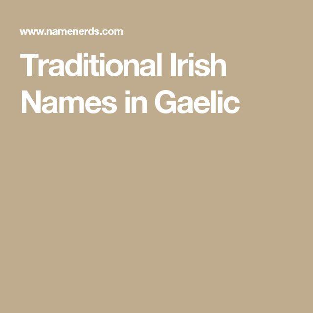 Traditional Irish Names in Gaelic
