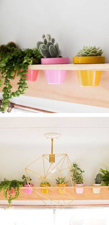 DIY Planter Shelf