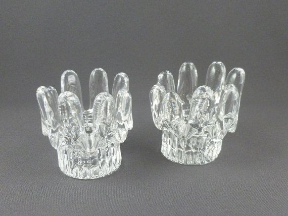 Goran Warff For Kosta Boda Sunflower Crystal Candle