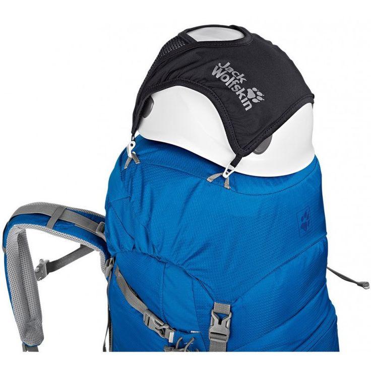 A Jack Wolfskin Helmet Fixation ideális kiegészítője a kerékpáros hátizsáknak. Teheted a hátizsák elejére vagy fel a tetejére, biztos nem csúszik ki alóla a sisak.