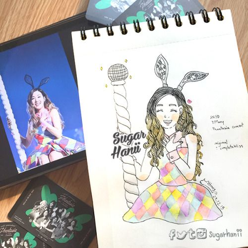 It's today babe ! #PhantasiainBKK  See you in 3 hours. So excited !! ❤️❤️ #Tiffany [snsd fanart] #sugarhanii