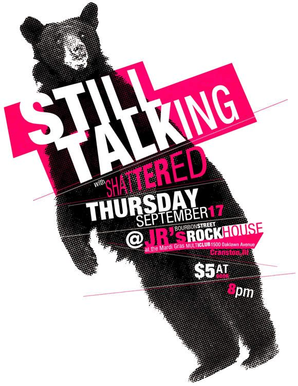 Still Talking gig poster by Colin Gillespie