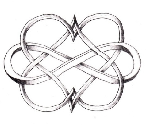 Double Heart Infinity Tattoo... #tattoo