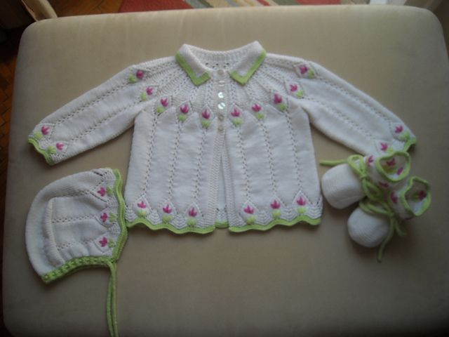 Ravelry: http's Sweater, Cap and Booties for Valentina