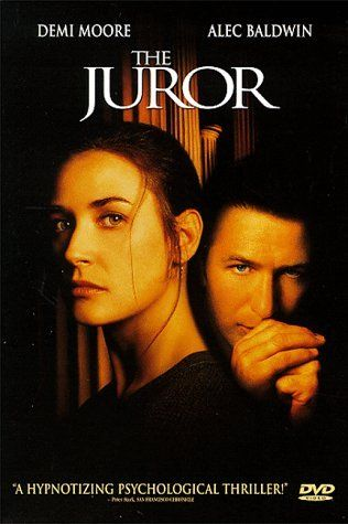 """THE JUROR (1996): When Annie Laird is selected as a juror in a big Mafia trial, she is forced by someone known as """"The Teacher"""" to persuade the other jurors to vote """"not guilty"""". He threatens to kill her son if she doesn't commit. When the trial is over, he can't let her go..."""