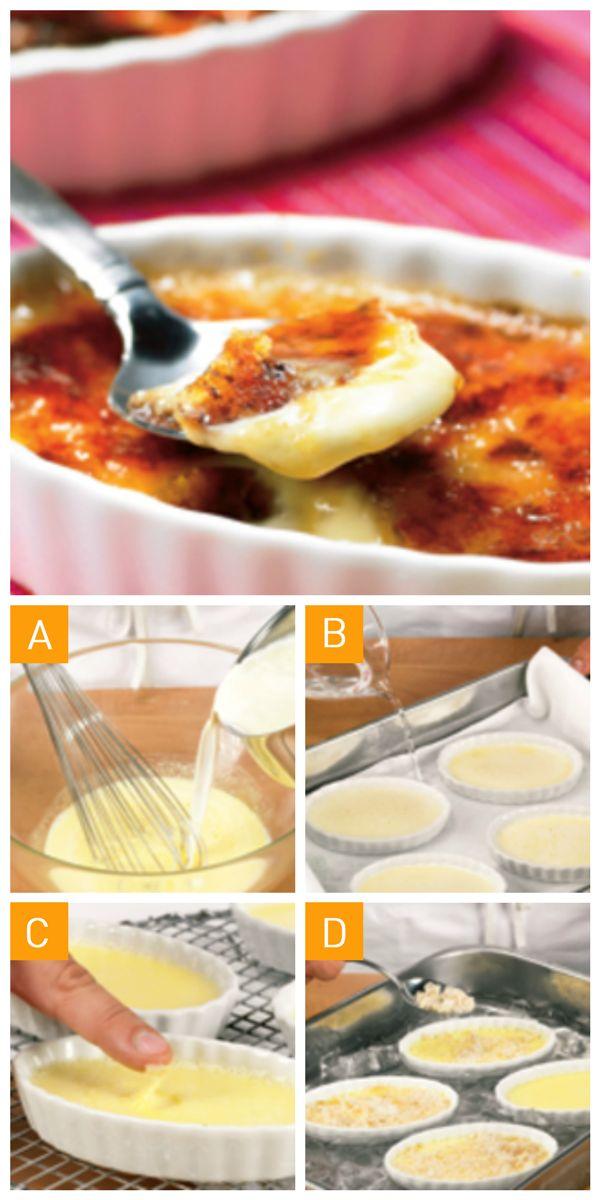 Une #recette de crème brûlée prête en quelques simples étapes pour un #dessert vite fait, bien fait!