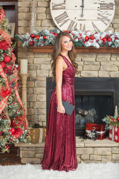 You're sure to be the center of attention in this stunning sequin maxi!