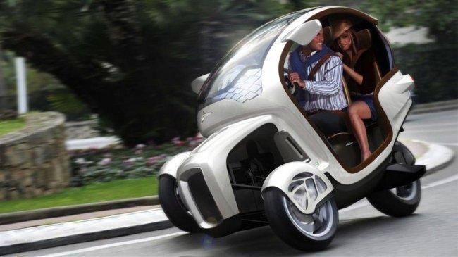 El E3WM de la marca Icona es un prototipo que mezcla en una pieza la filosofía del un modelo como el Renault Twizy, y la de los scooters eléctricos.