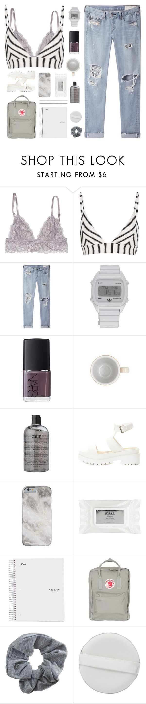 """sing every song in vain of your name"" by junglex ❤ liked on Polyvore featuring Tori Praver Swimwear, rag & bone/JEAN, adidas, NARS Cosmetics, Denby, philosophy, Stila, Fjällräven, Topshop and Williams-Sonoma"