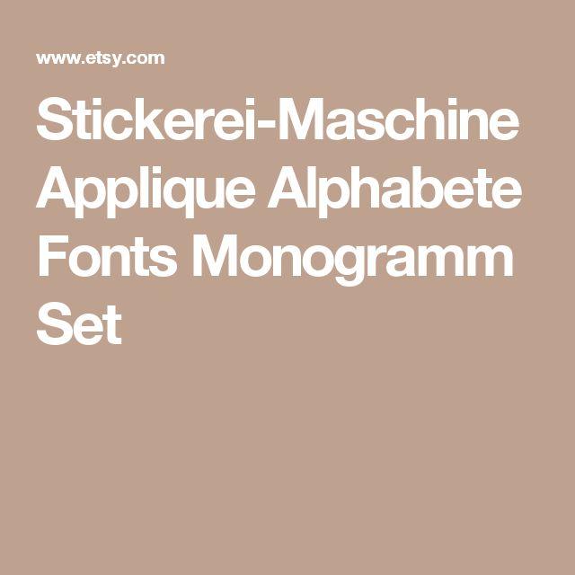 Stickerei-Maschine Applique Alphabete Fonts Monogramm Set