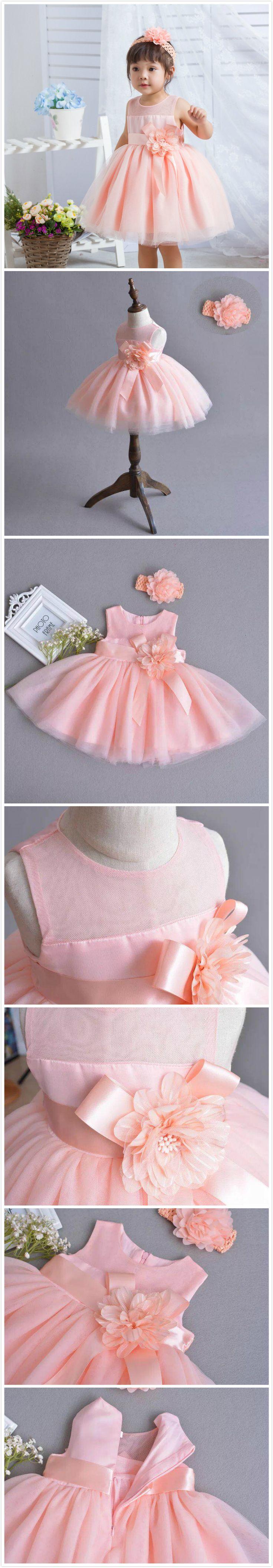 Baby & Toddler's Girl Pink Lace Dress Princess Dress For Wedding