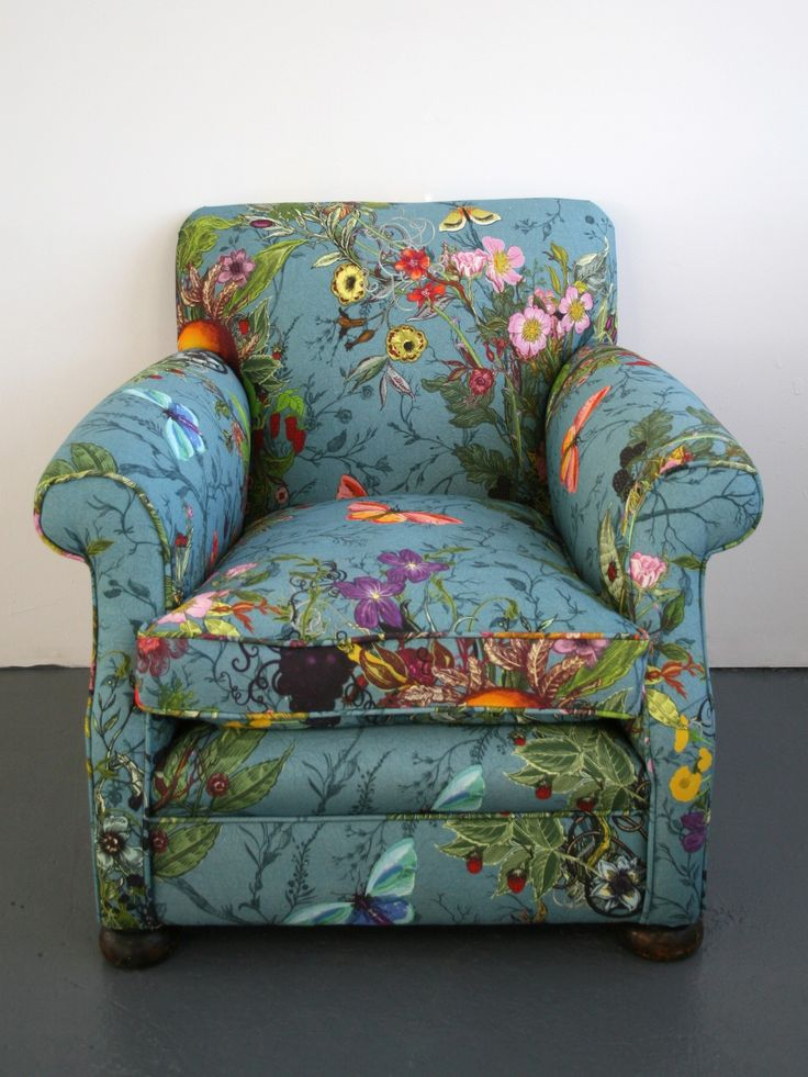New Upholstery In Bloomsbury Garden Teal Available At