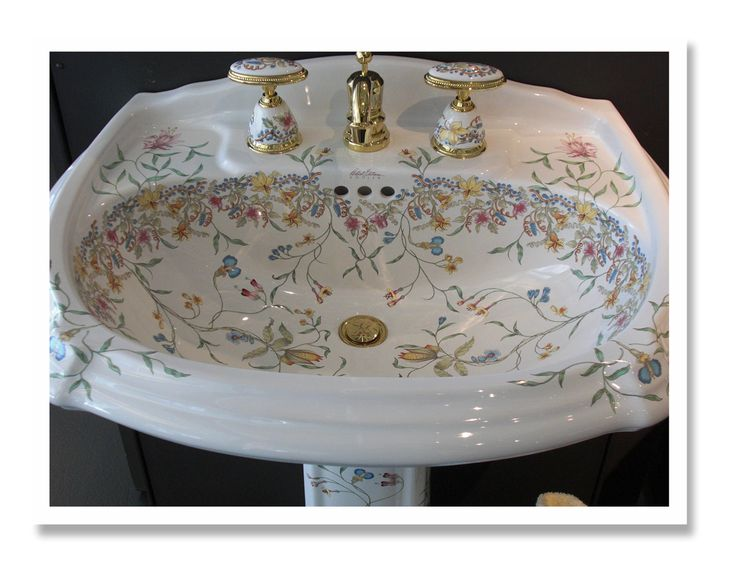 Hand Painted Sinks : hand-painted sinks Awesome Bathrooms Pinterest